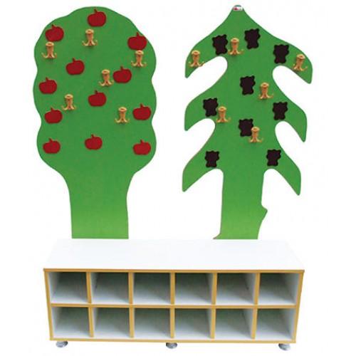 Ağaç Figürlü Portmanto modelleri, Ağaç Figürlü Portmanto fiyatı, anaokulu Ayakkabılık ve Portmantolar fiyatları, anasınıfı Ayakkabılık ve Portmantolar modelleri görselleri ve resimleri, anaokulu kreş malzemeleri