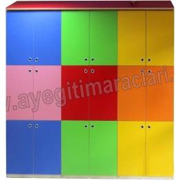 Renkli Bölmeli Portmanto