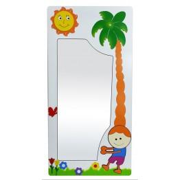 Küçük Çocuk Figürlü Boy Aynası