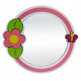 Çicek ve Kelebek Figürlü Lavabo Aynası