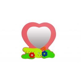Kalp Figürlü Lavabo Aynası