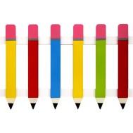 Parçalı Renkli Kalem Çit