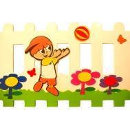 Oynayan Erkek Çocuk Figürlü Çit
