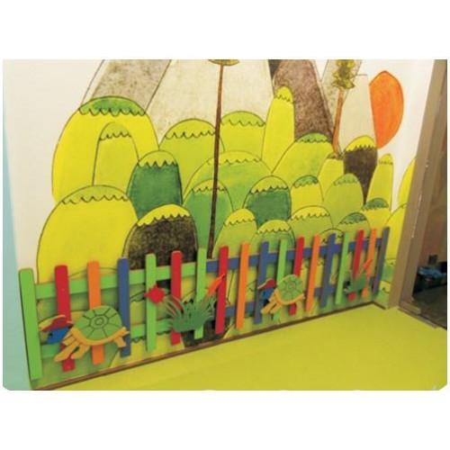 Duvar Süsü Renkli Çit modelleri, Duvar Süsü Renkli Çit fiyatı, anaokulu Duvar Süslemeleri fiyatları, anasınıfı Duvar Süslemeleri modelleri görselleri ve resimleri, anaokulu kreş malzemeleri