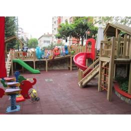 Bahçe Etrafı Ahşap Çocuk Oyun Parkı