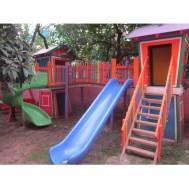 Çitli Ahşap Çocuk Oyun Parkı