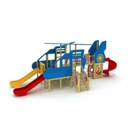 Ahşap Helikopter Çocuk Oyun Parkı