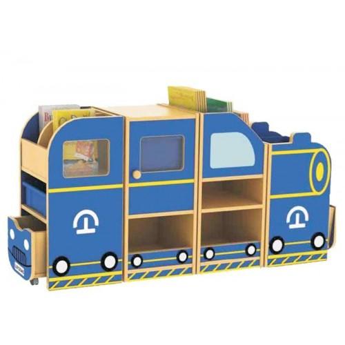 Karavan Modeli Kitaplıklı Oyuncak Dolabı modelleri, Karavan Modeli Kitaplıklı Oyuncak Dolabı fiyatı, anaokulu Dolaplar fiyatları, anasınıfı Dolaplar modelleri görselleri ve resimleri, anaokulu kreş malzemeleri