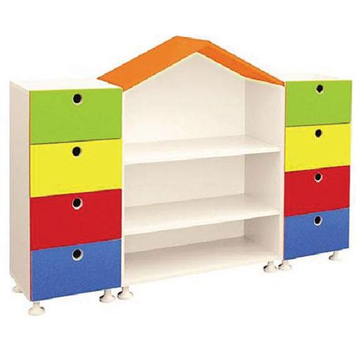 Çatılı Kitaplıklı Dolap modelleri, Çatılı Kitaplıklı Dolap fiyatı, anaokulu Dolaplar fiyatları, anasınıfı Dolaplar modelleri görselleri ve resimleri, anaokulu kreş malzemeleri