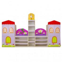 Çatılı Ev Figürlü Dolap Seti