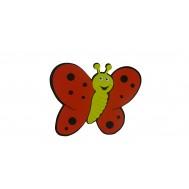 Kırmızı Kelebek Figürlü Duvar Süsü