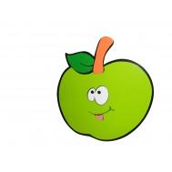 Gülen Yeşil Elma Figürlü Duvar Süsü
