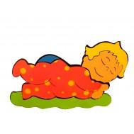 Uyuyan Bebek Figürlü Duvar Süsü