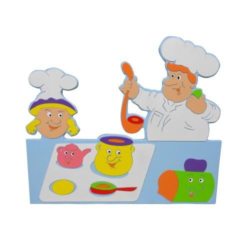 Okul öncesi Aşçı Boyama