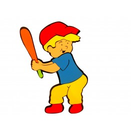 Beyzbolcu Çocuk Figürlü Duvar Süsü