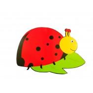 Kırmızı Uğur Böceği Figürlü Duvar Süsü