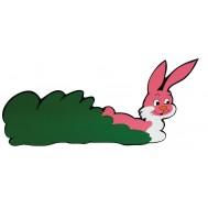Pembe Tavşan Figürlü Duvar Süsü