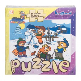 Ahşap Mevsimler Puzzle (Kış)