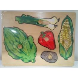 Sebzeler Puzzle (Ahşap)