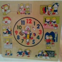 Ahşap Bultaklı Saat Puzzle