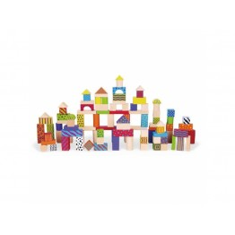 Viga Ahşap Desenli Blok 100 Parça