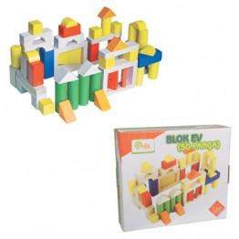 50 Parça Ahşap Blok Seti