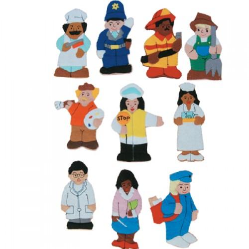 Meslekler Modelli Parmak Kuklaları Takım modelleri, Meslekler Modelli Parmak Kuklaları Takım fiyatı, anaokulu Kukla Köşeleri fiyatları, anasınıfı Kukla Köşeleri modelleri görselleri ve resimleri, anaokulu kreş malzemeleri