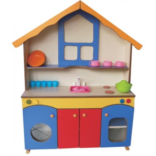 Oyuncak Mutfak seti, ahşap oyuncak mutfak, anaokulu mutfak köşesi, çocuk mutfak seti, mutfak tezgahı
