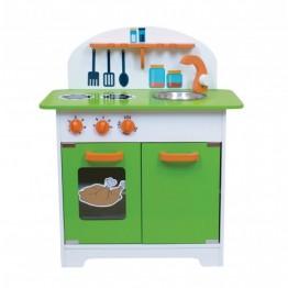 Yeşil Ahşap Mutfak