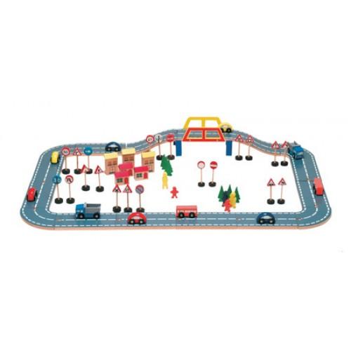 Ahşap Trafik Seti modelleri, Ahşap Trafik Seti fiyatı, anaokulu Trafik Köşesi fiyatları, anasınıfı Trafik Köşesi modelleri görselleri ve resimleri, anaokulu kreş malzemeleri