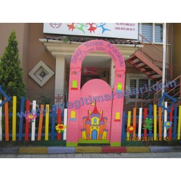 Çitli Anaokulu Kapı Giydirme