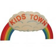 Kids Town Figürlü Tabela