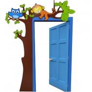 Ağaç Figürlü Kapı Giydirme