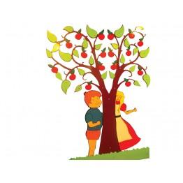 Elma Ağacı Figürlü Kapı Giydirme