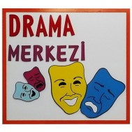 Drama Merkezi Figürlü Tabela