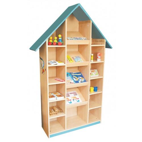 Raflı Çatılı Kitaplık modelleri, Raflı Çatılı Kitaplık fiyatı, anaokulu Kitaplıklar fiyatları, anasınıfı Kitaplıklar modelleri görselleri ve resimleri, anaokulu kreş malzemeleri