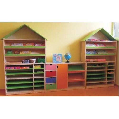 Fon Kartonluklu Kitaplık modelleri, Fon Kartonluklu Kitaplık fiyatı, anaokulu Kitaplıklar fiyatları, anasınıfı Kitaplıklar modelleri görselleri ve resimleri, anaokulu kreş malzemeleri