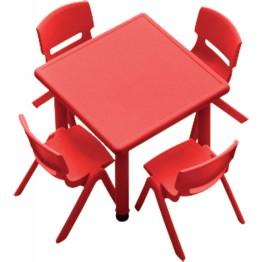 Plastik Kare Çocuk Masası
