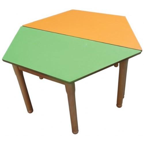 2 Parçalı Altıgen Masa modelleri, 2 Parçalı Altıgen Masa fiyatı, anaokulu Masalar fiyatları, anasınıfı Masalar modelleri görselleri ve resimleri, anaokulu kreş malzemeleri