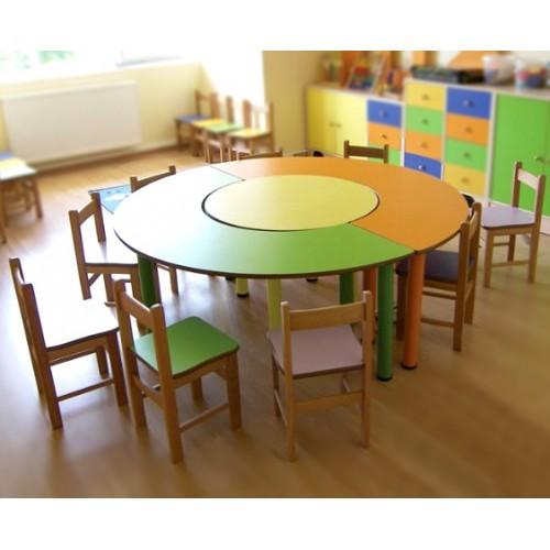 3 Parçalı Yuvarlak Masa modelleri, 3 Parçalı Yuvarlak Masa fiyatı, anaokulu Masalar fiyatları, anasınıfı Masalar modelleri görselleri ve resimleri, anaokulu kreş malzemeleri