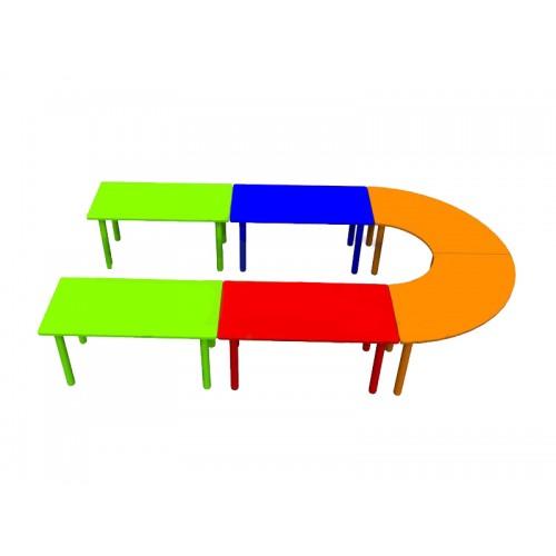 6 Parçalı U Masa modelleri, 6 Parçalı U Masa fiyatı, anaokulu Masalar fiyatları, anasınıfı Masalar modelleri görselleri ve resimleri, anaokulu kreş malzemeleri
