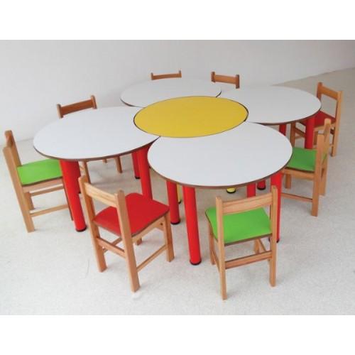Papatya Masa modelleri, Papatya Masa fiyatı, anaokulu Masalar fiyatları, anasınıfı Masalar modelleri görselleri ve resimleri, anaokulu kreş malzemeleri