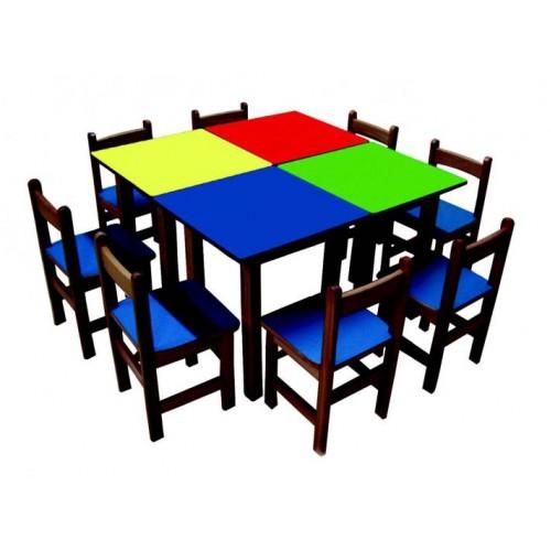 Ahşap Kare Masa modelleri, Ahşap Kare Masa fiyatı, anaokulu Masalar fiyatları, anasınıfı Masalar modelleri görselleri ve resimleri, anaokulu kreş malzemeleri