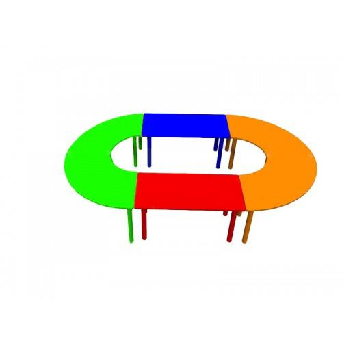 Ahşap Oval Anfi Masa modelleri, Ahşap Oval Anfi Masa fiyatı, anaokulu Masalar fiyatları, anasınıfı Masalar modelleri görselleri ve resimleri, anaokulu kreş malzemeleri