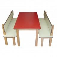 Banklı Yemek Masası