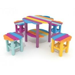 Renkli Yuvarlak Masa