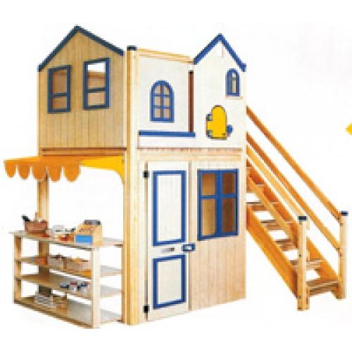 Ahşap İki Katlı Oyun Evi modelleri, Ahşap İki Katlı Oyun Evi fiyatı, anaokulu Oyun Evleri fiyatları, anasınıfı Oyun Evleri modelleri görselleri ve resimleri, anaokulu kreş malzemeleri