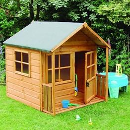 Çatılı Ahşap Oyun Evi