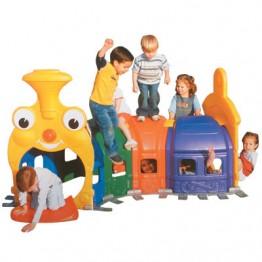 Renkli Eğlence Trenli Oyun Evi