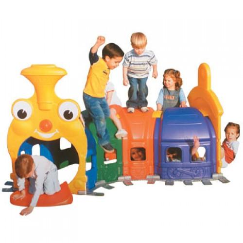 Renkli Eğlence Trenli Oyun Evi modelleri, Renkli Eğlence Trenli Oyun Evi fiyatı, anaokulu Oyun Evleri fiyatları, anasınıfı Oyun Evleri modelleri görselleri ve resimleri, anaokulu kreş malzemeleri